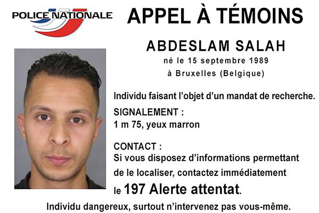 11月15日,法國警方發布了巴黎恐襲案疑犯 Salah Abdeslam 的通緝令。攝:Police Nationale via Reuters