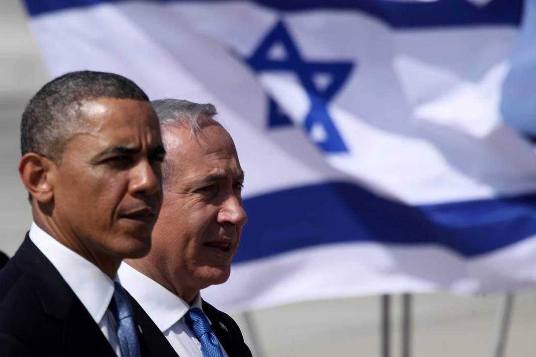 2013年,美國總統奧巴馬出訪以色列,與以色列總理內塔尼亞胡會面。攝:Marc Israel Sellem-Pool/Getty
