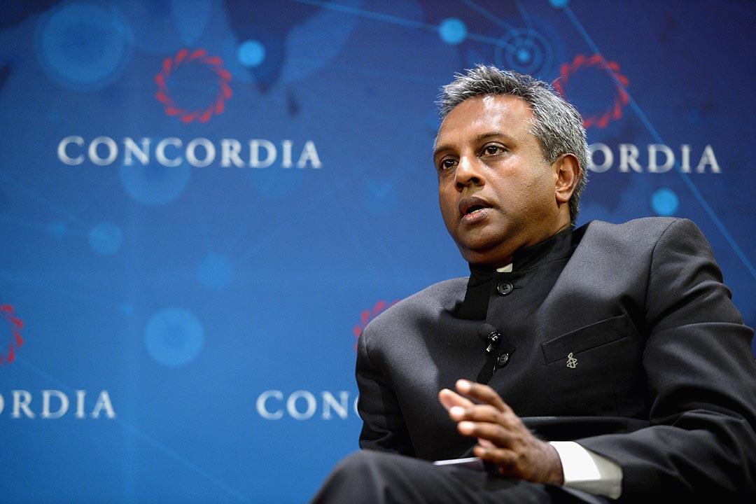 國際人權特赦組織秘書長薩利爾·謝蒂(Salil Shetty)。攝 : Leigh Vogel/Getty Images for Concordia Summit