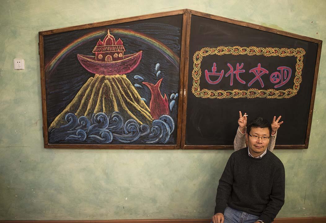 """李澤武,成都華德福學校校長。李澤武校長的教學理念就是""""教育是一種最好的療癒手段。""""攝:Wu Yue/端傳媒"""
