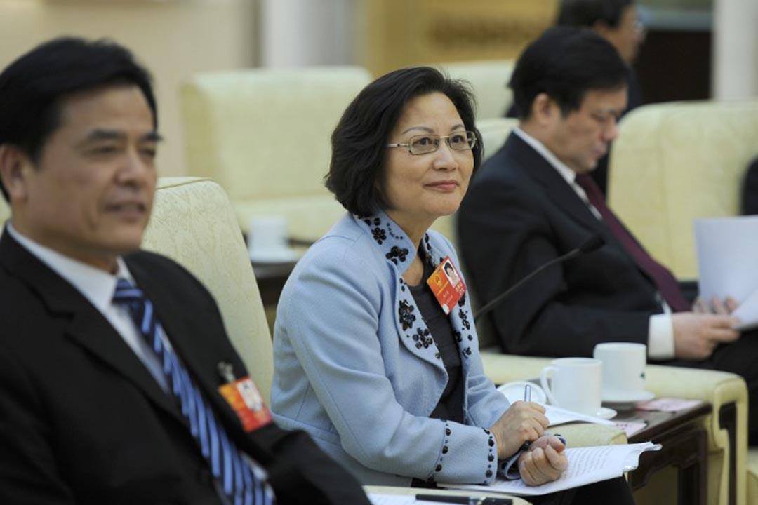 台灣省全國人民代表大會代表陳雲英。攝:LIU JIN / AFP