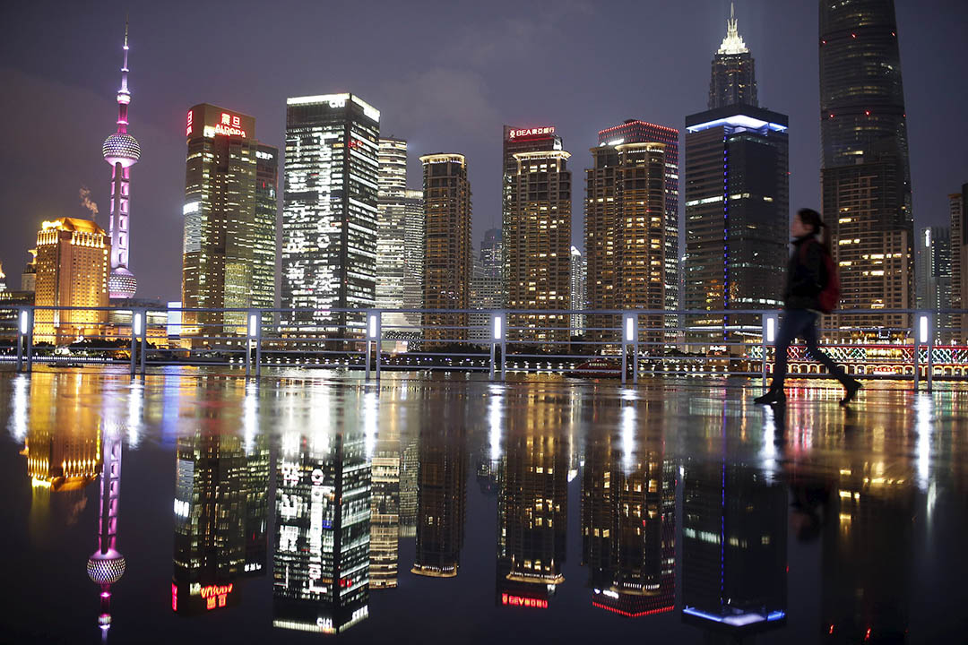 圖為中上海浦東商業區的夜景。攝:Aly Song/REUTERS