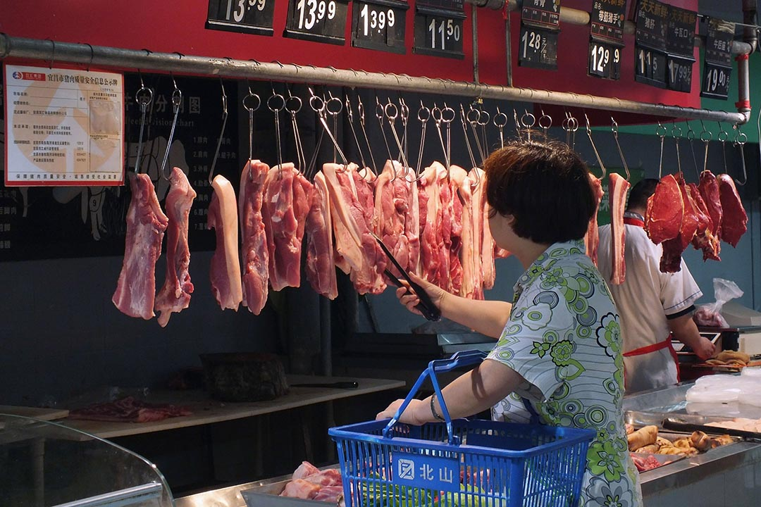 豬肉價格上漲是推動CPI上漲的重要原因 。攝: ChinaFotoPress/GETTY