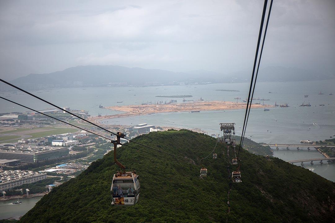 港珠澳大橋香港口岸人工島。攝 : Billy H.C. Kwok/端傳媒