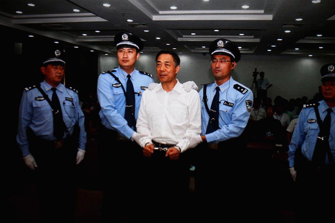 中共前政治局委員薄熙來接受審判。攝:Feng Li/GETTY