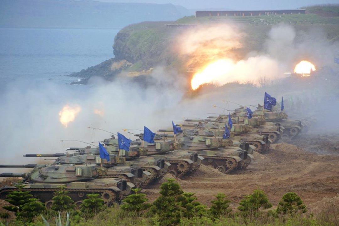 2013年漢光軍事演習。攝:The Yomiuri Shimbun /AFP