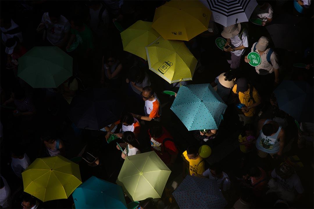 圖為特首2017年選舉方案被否決後首個71遊行。攝:盧翊銘/端傳媒