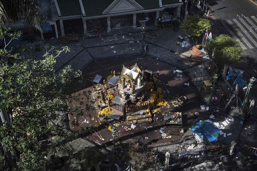 大爆炸過後的四面佛寺。