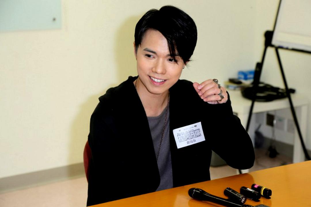 11月15日,張敬軒出席一齣舞台劇的綵排。攝:TungStar via AFP