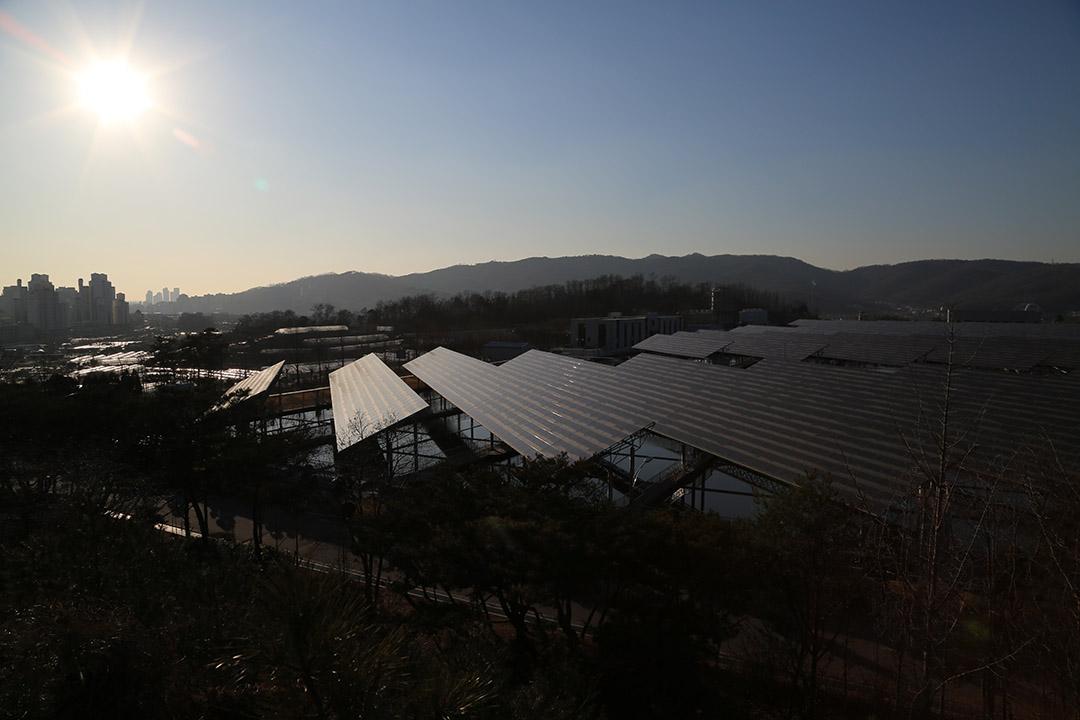 非牟利組織「能源分享與和平」在韓國擁有16間太陽能發電站,盈利用於支援能源貧困階層。攝:孫賢亮/端傳媒