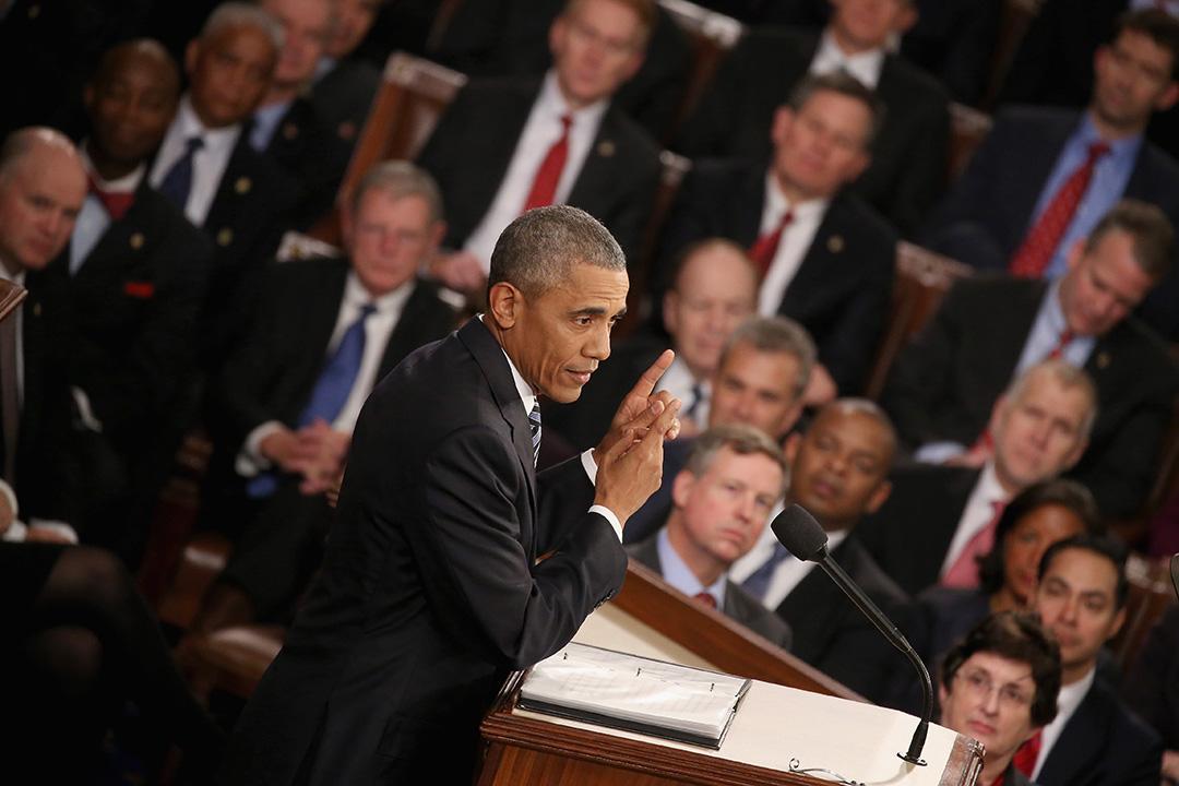 圖為美國總統奧巴馬在國會發表演說。攝:Mark Wilson/GETTY
