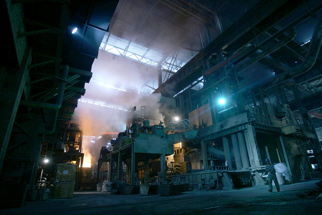 中國重慶的鋼鐵廠。攝:China Photos/GETTY