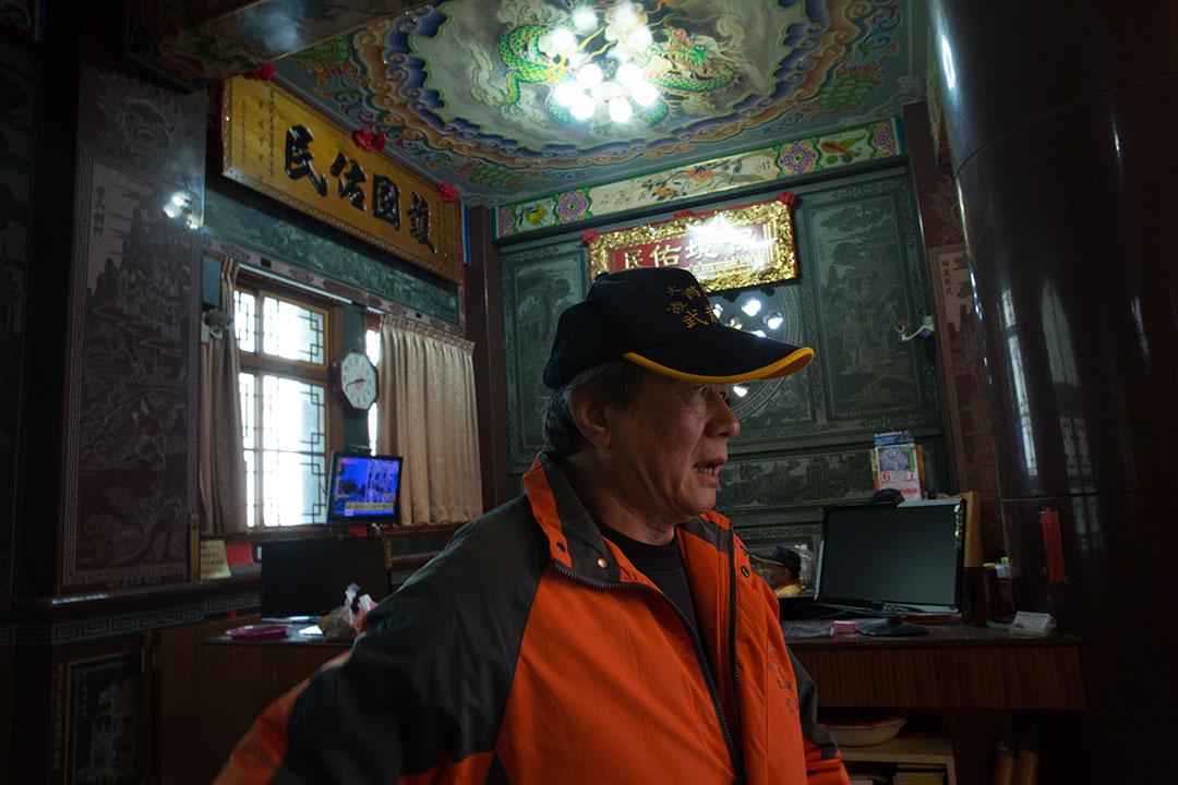 2016年2月7日,台南武龍宮董事長。攝:徐翌全/端傳媒