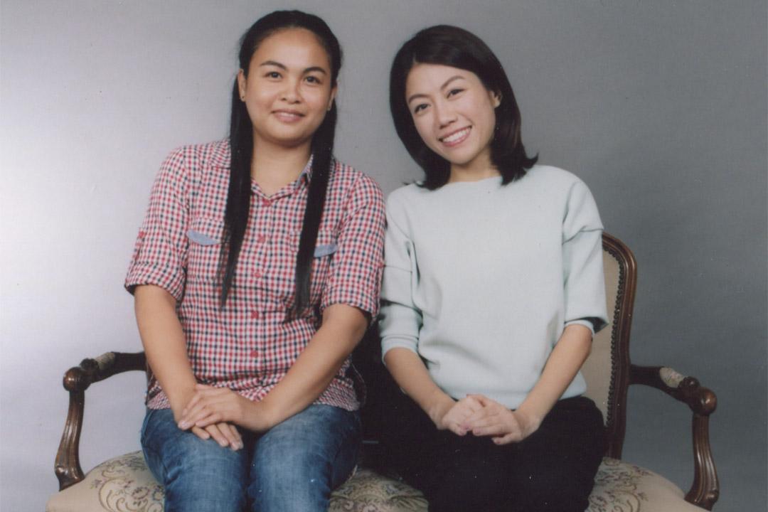彭秀慧(右)和Kayla(左),一段由僱傭開始的家庭關係。