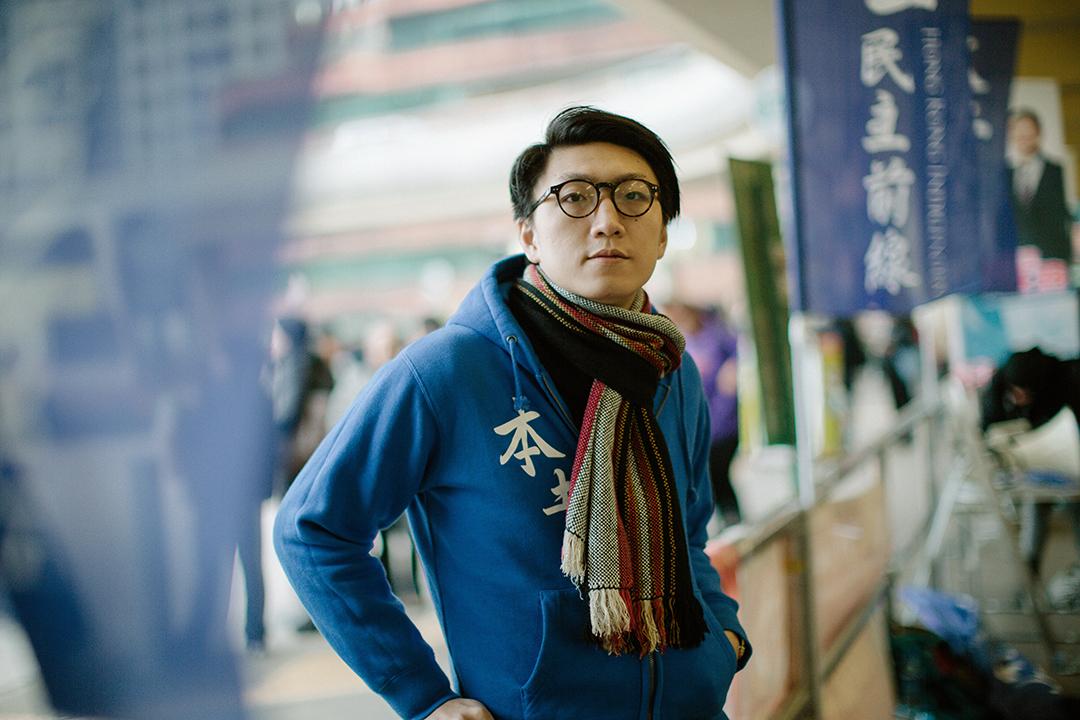 本土民主前線成員梁天琦。 攝:王嘉豪/端傳媒