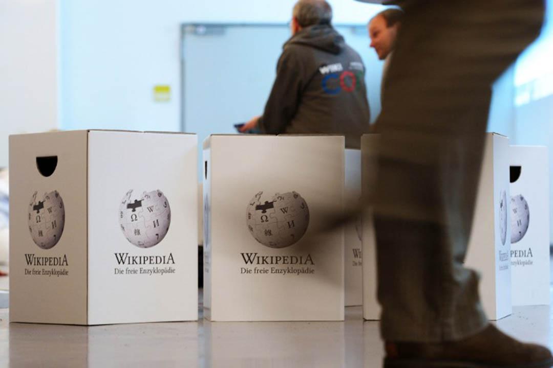 維基百科是否將打造搜索引擎引發爭議。攝:ULIDECK/AFP