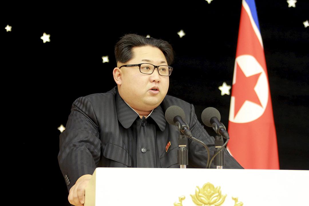 北韓平壤,金正恩在舉行在用遠程火箭發射了一顆衞星後舉行慶功會。攝:REUTERS/KCNA