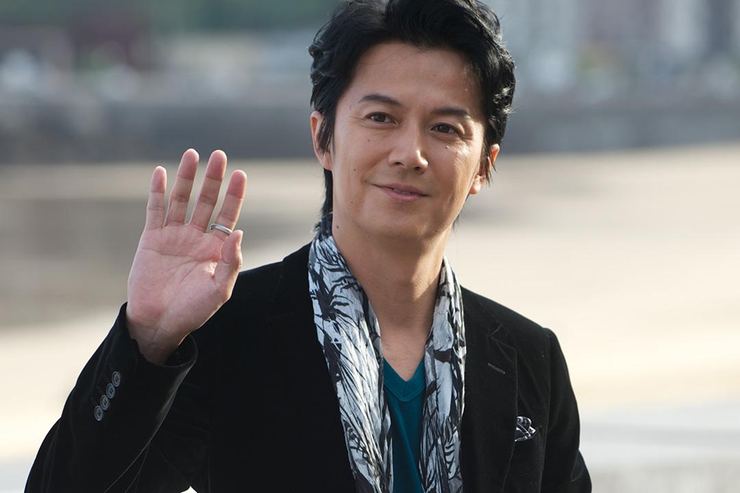 日本藝人福山雅治於2013年在西班牙出席電影節的宣傳活動。攝: Carlos Alvarez/GETTY