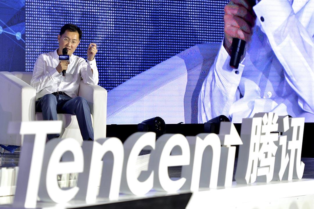騰訊公司董事會主席兼 CEO 馬化騰。 攝:LUO HAO / IMAGINECHINA