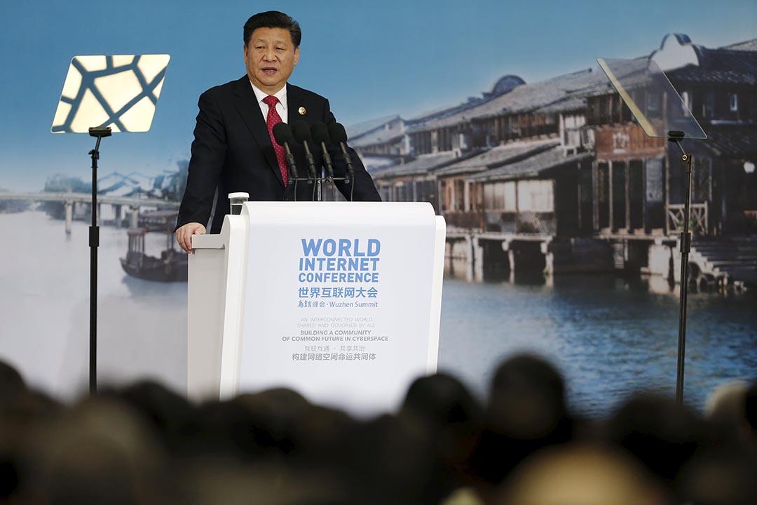 中國國家主席習近平出席第二屆世界互聯網大會開幕。攝:Aly Song/REUTERS