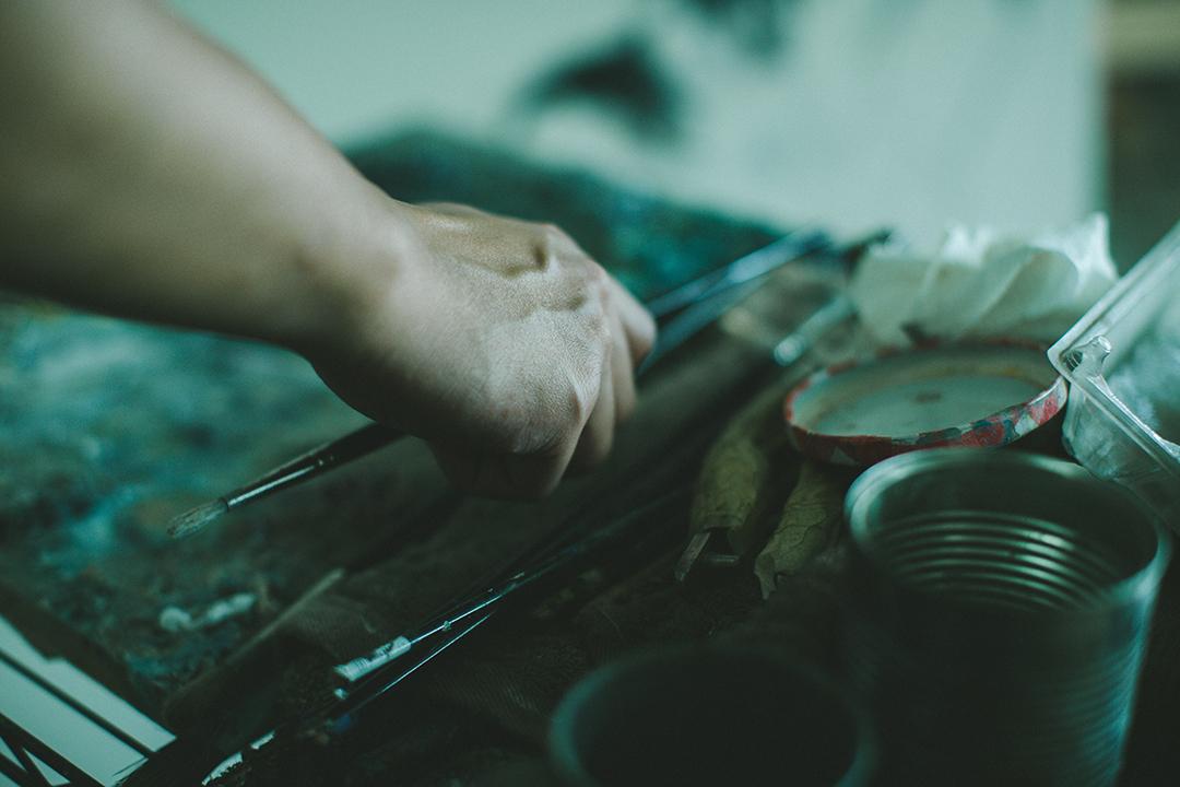 藝術家禤善勤與他的工作室。攝 : 王嘉豪/端傳媒