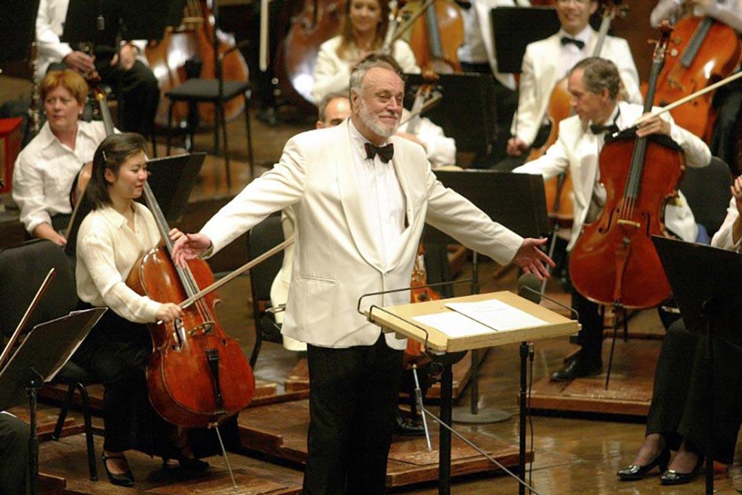 德國著名指揮家馬蘇爾(Kurt Masur)。攝:Doug KANTER / AFP