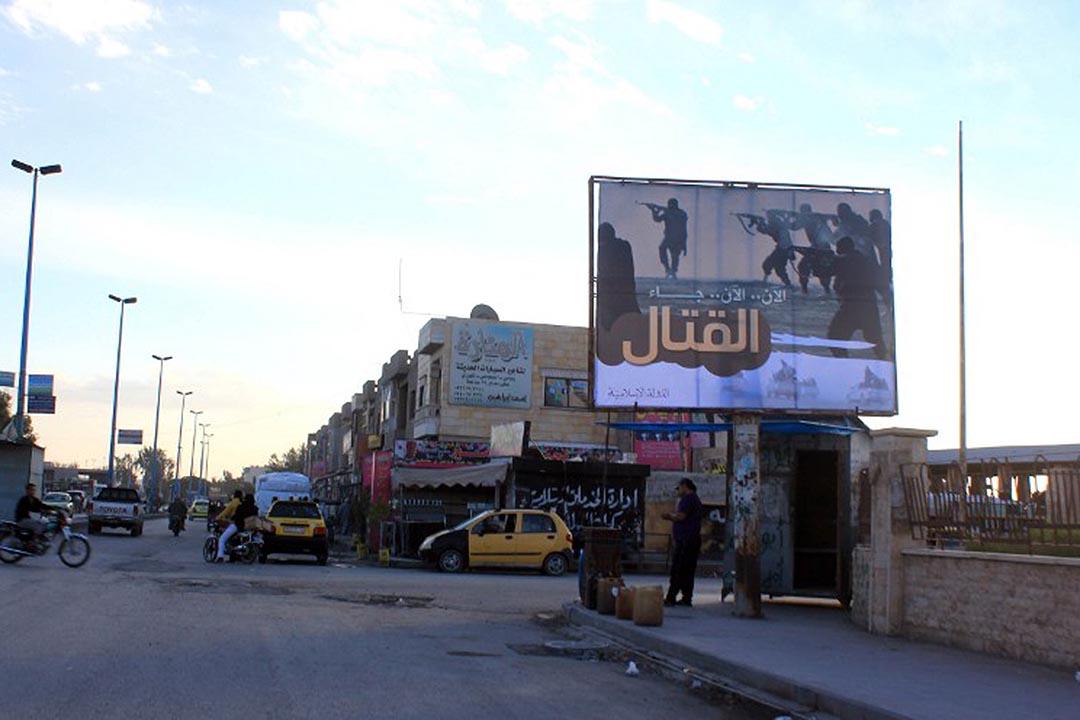 伊斯蘭國(Islamic State,IS)在敘利亞控制區拉卡(Raqqa)。攝:RMC/STR / AFP