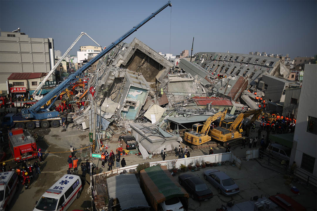 張賢龢:南台大震震倒11座建築,但在第一天的搶救後,主要救援現場只剩維冠大樓一處。攝:林亦非/端傳媒
