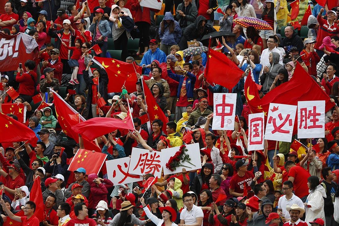 中國國家隊球迷。攝 : Todd Korol/GETTY