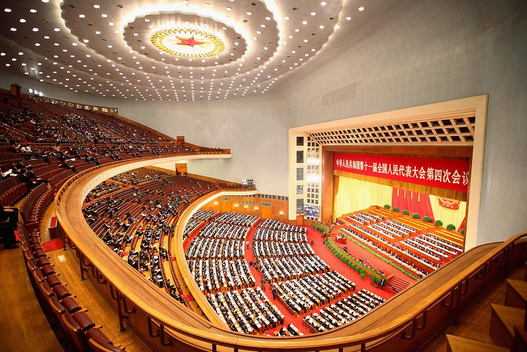 2011年3月11日,北京,人民大會堂。攝:Feng Li/GETTY