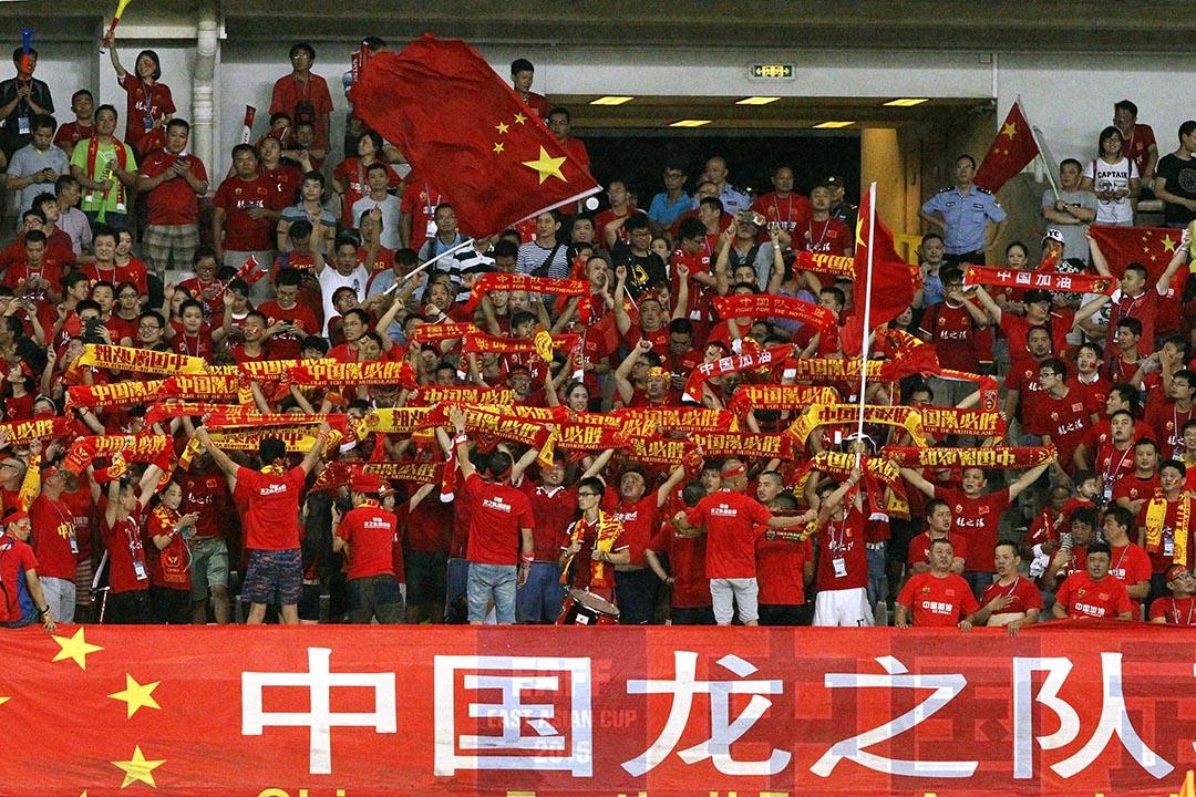 國足主教練艾倫·佩連(Alain Perrin)8月30日表示,希望國足能淨勝港足3球以上。攝 : Kevin Lee/GETTY
