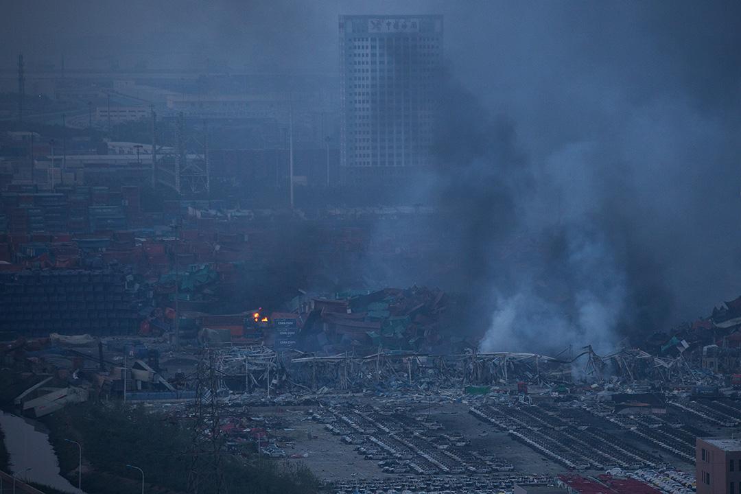 爆炸現場。