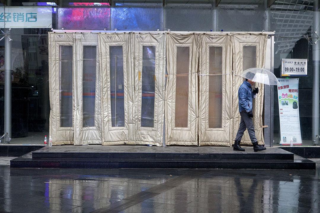 中國北京中關村的電子產品商場。攝:Giulia Marchi/端傳媒
