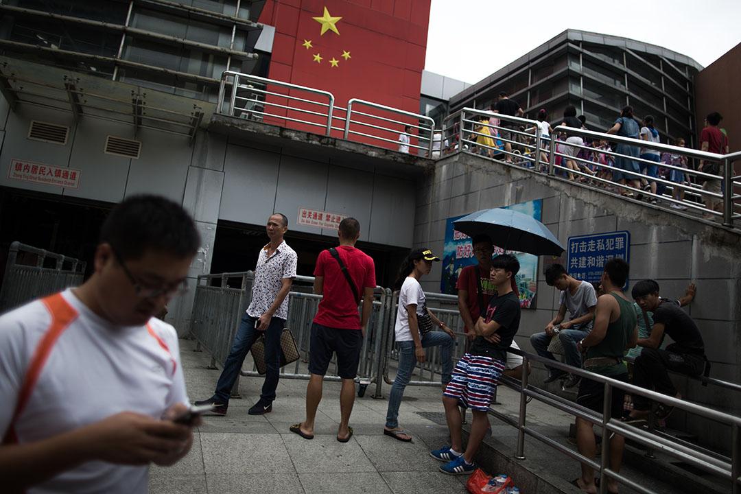 圖為沙頭角口岸往返香港的邊境關口。攝:盧翊銘/端傳媒