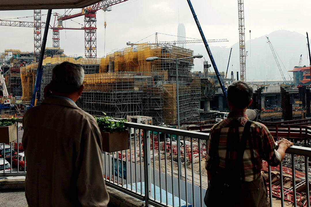 圖為港深廣高鐵香港西九段正在施工的地盤。攝:王嘉豪/端傳媒