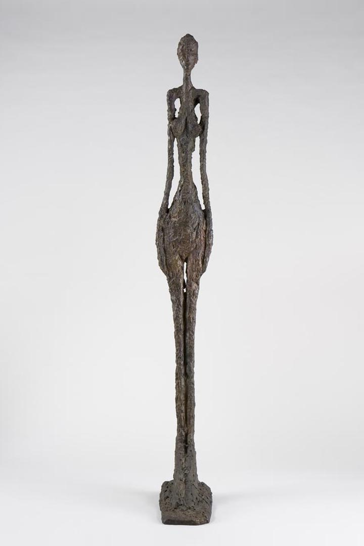 贾科梅蒂 Tall Woman IV,1960,贾科梅蒂基金会藏品