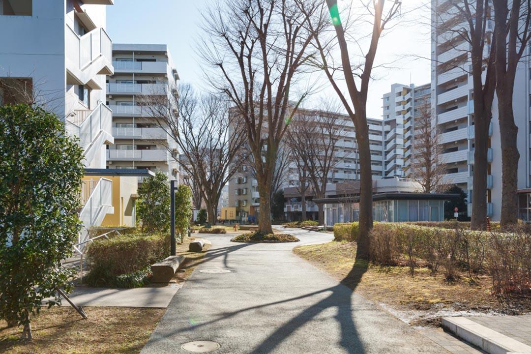 為解決1940年代末嬰兒潮帶來的居住問題,日本政府及企業聯手興建了大堆集居式的屋苑(日本稱為團地),嬰兒潮過後,卻又面對大批單位空置的問題。後來UR都市機構等企業,將之收購修䇯,以較低賺的價錢及簡便的手續,租給有需要的人。而現時這些團地的低層單位,都改建成長者住宅。圖片來自Suumo.jp,由作者提供