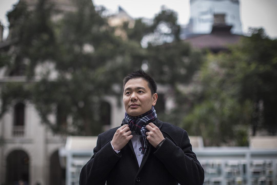 民建聯候選人周浩鼎。攝:羅國輝/端傳媒