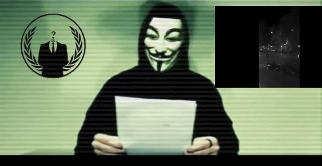 黑客組織「匿名者」(anonymous)開始在網上曝光 IS 成員及招募者名單。攝 : Social Media Website via Reuters