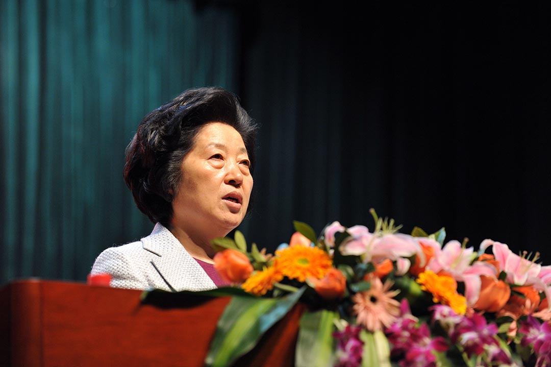 中共中央政治局委員、中共中央統一戰線工作部部長孫春蘭。攝:Xiang yang / Imaginechina