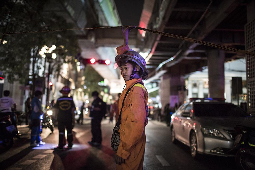事發後四面佛對出馬路封閉,只准救援人員進入。