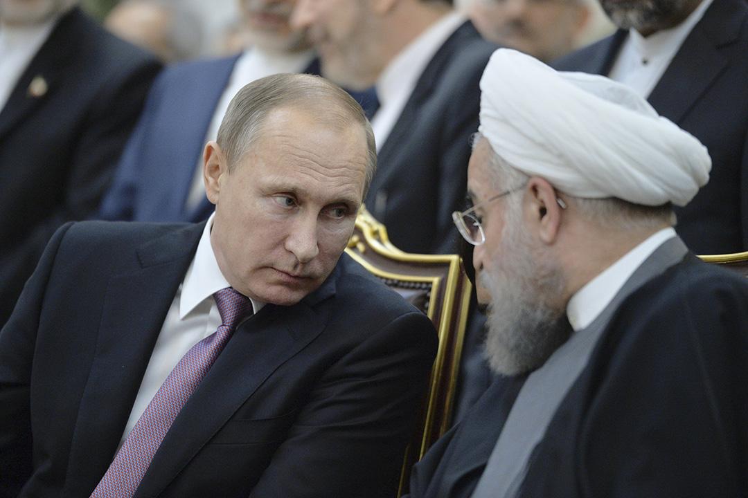 11月23日,伊朗德黑蘭,俄羅斯總統普京與伊朗總統魯哈尼會面。攝:REUTERS