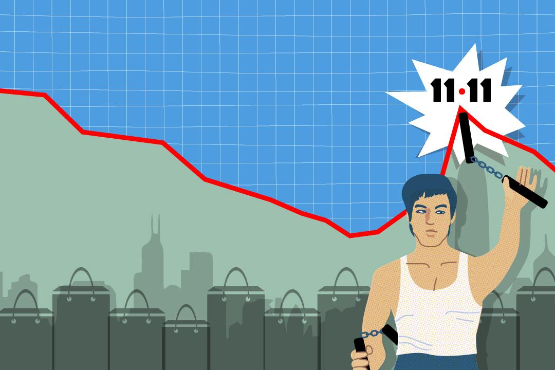 香港式購物怎樣卷進「雙十一」狂潮。圖:Wilson Tsang / 端傳媒