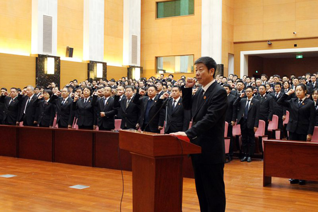 2016年2月,昌平法院舉行馬彩雲法官追思座談會。攝:昌平法院網