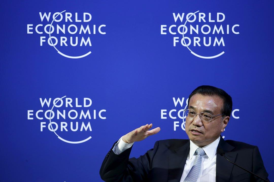 中國國務院總理李克強在大連達沃斯論壇。攝 : Jason Lee/REUTERS