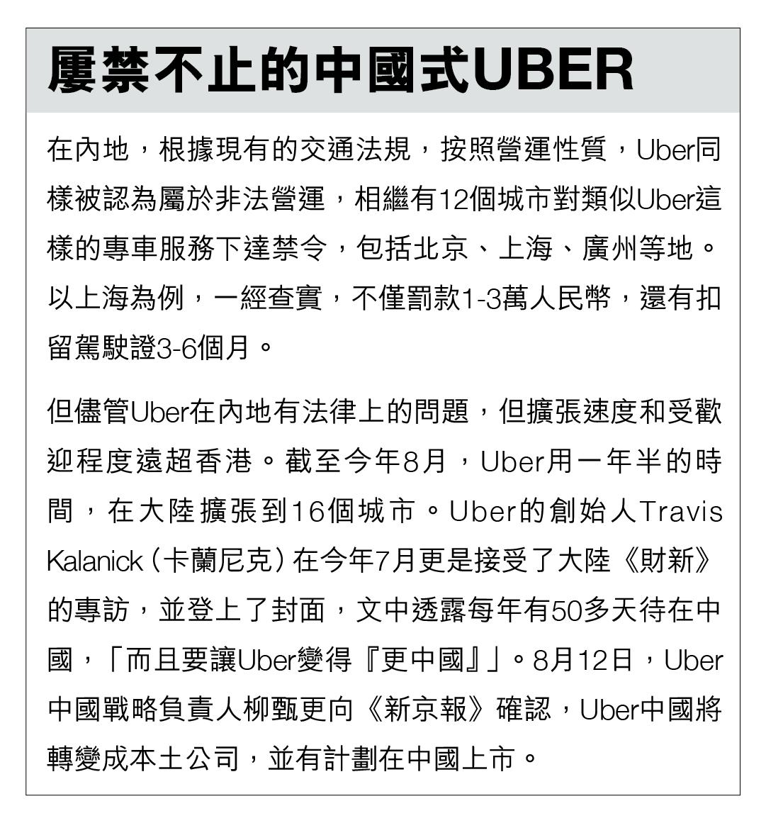屢禁不止的中國式Uber。製圖:端傳媒