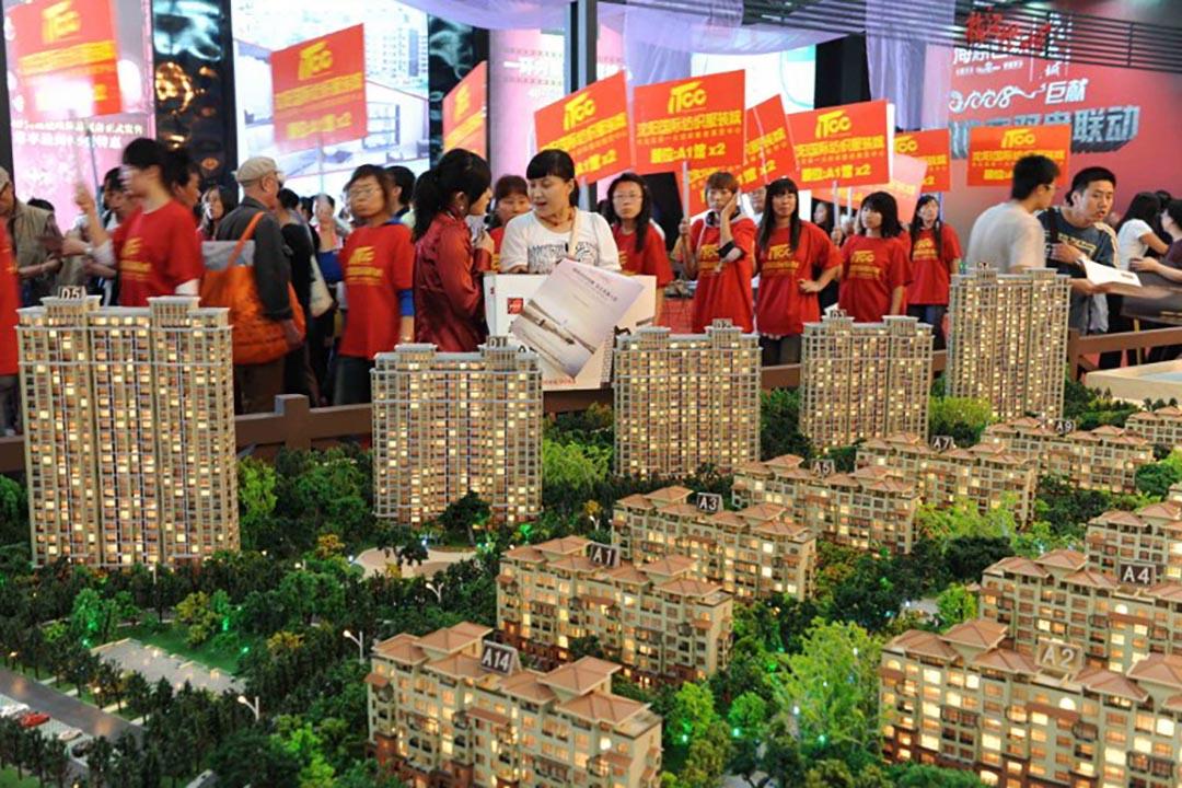 瀋陽住房展銷會。攝 : AFP