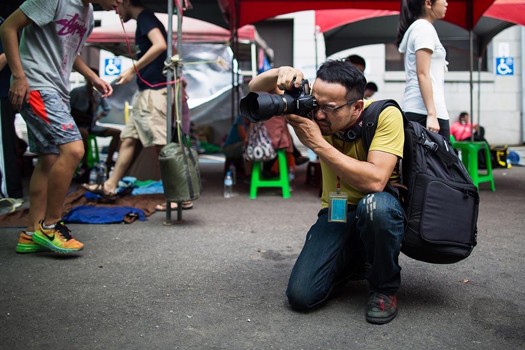 苦勞網記者宋小海是教育部三名被捕記者之一。攝: Billy H.C. Kwok/ 端傳媒