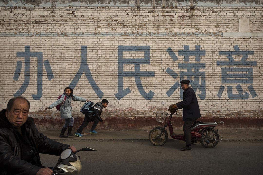 中國河北省一條村落。攝:Kevin Frayer/Getty
