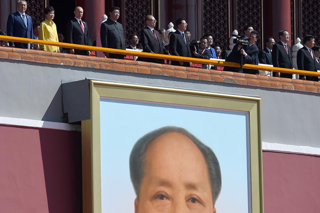 習近平聯同多國領袖閱兵。攝:Wang Zhao - Pool /GETTY